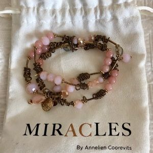 Jewelry - Rose tones miracles bracelet by Annalien Coorevits
